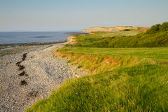 Kilve beach in Somerset England. Kilve beach in Somerset famous for its fossila and being on the West Somerset Walk Stock Photo