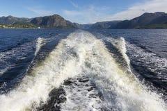 Kilwater na Sognefjord Obraz Stock