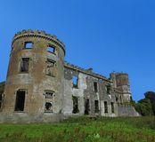 Kilwaughter城堡蓝天文本拷贝的背景空间 免版税库存图片