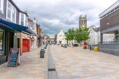 Kilwinning Grodzki Centre Szkocja Zdjęcia Royalty Free