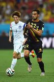Kim BO-kyung e Nacer Chadli Coupe du monde 2014 Immagini Stock Libere da Diritti
