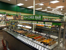 Kim Chee Food Bar inside Supermarket Stock Photography