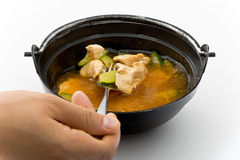 Kim-chi soup with chiken Royalty Free Stock Photography