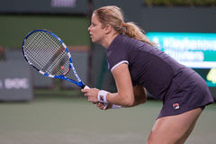 Kim Clijsters at the 2010 BNP Paribas Open Royalty Free Stock Images