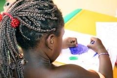 Kim dans le jardin d'enfants Photos libres de droits