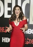 Kim Director. Luscious actress Kim Director arrives on the red carpet for the New York premiere of HBO`s multi-part drama, `The Deuce.`  The dramatic series Stock Photography