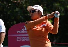 Kim Hye Youn på golf Evian styrer 2012 royaltyfria foton