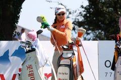 Kim Hye Youn på golf Evian styrer 2012 arkivbild