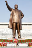 Kim Il Sung bronze statue. Huge bronze statue of Kim Il Sung. It erected Kim Il Sung Square in Pyongyang Stock Photo