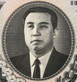 Kim Il sung portrait on North Korean 1000 Won 2006 banknote cl. Ose up, leader of North Korea from at 1948 - 1994 Stock Photography