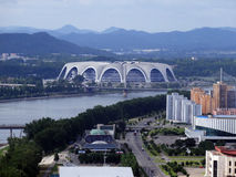 Kim Il Sung Stadium. In Pyongyang North Korea Royalty Free Stock Images