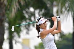 Kim Ji Min van de Republiek Korea in PTT Thailand LPGA Maste Royalty-vrije Stock Afbeelding