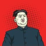 Kim Jong-un Pop Art Portrait Poster 26 mei, 2017 Stock Foto