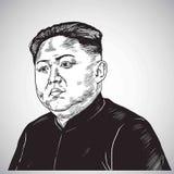 Kim Jong-un Portrait Hand Drawn Drawing Illustration Vector. October 31, 2017. Kim Jong-un Portrait Hand Drawn Drawing Illustration Vector Art. October 31, 2017 Stock Photos