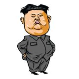 Kim Joung-un Cartoon Vector Illustration 26 april, 2017 Royalty-vrije Stock Foto