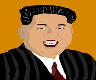 Kim Jung Un royaltyfri illustrationer