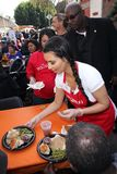 Kim Kardashian. At LA Mission Homeless Thanksgiving, Los Angeles Mission, Los Angeles, CA 11-23-11 Royalty Free Stock Photo