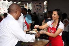 Kim Kardashian. At LA Mission Homeless Thanksgiving, Los Angeles Mission, Los Angeles, CA 11-23-11 Stock Image