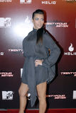 Kim Kardashian appearing. Kim Kardashain on the red carpet in Holllywood in November 2006 Royalty Free Stock Photo