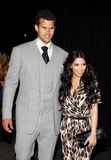 Kim Kardashian e Kris Humphries imagem de stock royalty free