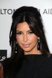 Kim Kardashian, Elton John Stock Photo
