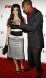 Kim Kardashian et Nick Cannon Image libre de droits