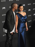 Kim Kardashian & Kanye West Fotografia Stock