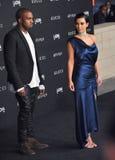 Kim Kardashian & Kanye West Stock Images