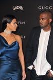 Kim Kardashian & Kanye West Stock Photography