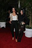 Kim Kardashian,Kourtney Kardashian Stock Photo