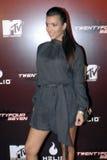 Kim Kardashian no tapete vermelho. imagens de stock