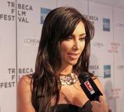 Kim Kardashian. Reality tv star Kim Kardashian appears before the media as she attends the screening of `Wonderful World` at the 8th Annual Tribeca Film Festival Stock Photos