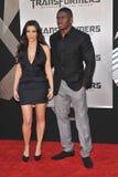 Kim Kardashian, Reggie Bush fotografia stock
