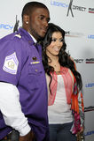 Kim Kardashian and Reggie Bush appearing live. Kim Kardashian and Reggie Bush at the 2nd Annual Matt Leinart Celebrity Basketball Event in Hollywood on July 17 Stock Image