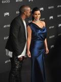 Kim Kardashian u. Kanye West Stockfotografie