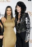 Kim Kardashian West and Cher royalty free stock photo