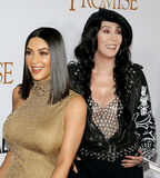 Kim Kardashian West and Cher stock photos