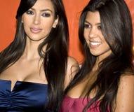 Kim Kardashian y hermana Kourtney Fotos de archivo libres de regalías