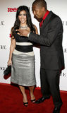 Kim Kardashian y Nick Cannon Imagen de archivo libre de regalías