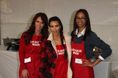 Kim Kardashian, Zoe Saldana, Amour-Hewitt de Jennifer Images libres de droits