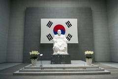 Kim Koo Museum, Paikbum Kim Gu stock afbeelding