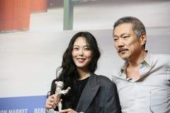 Kim Min-hee, director Hong Sangsoo Royalty Free Stock Image
