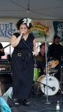Kim Nalley al festival di jazz a San Francisco fotografia stock