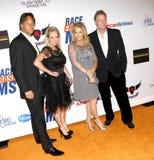Kim Richards, Kathy Hilton and Rick Hilton Stock Image