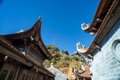 Kim Son Bao Thang Tu-Pagode op Fansipan-berg, hoogste de bergpiek van Fansipan van Indochina royalty-vrije stock foto's