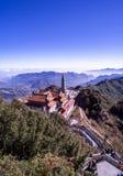 Kim Son Bao Thang Tu-Pagode op Fansipan-berg, hoogste de bergpiek van Fansipan van Indochina royalty-vrije stock fotografie