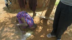 Kimana, Kenia, circa, traditionellem massai Dorf im Juni 2018 in Kenia stock video footage