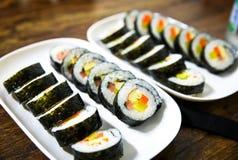 Kimbab - estilo asiático Fotografia de Stock Royalty Free