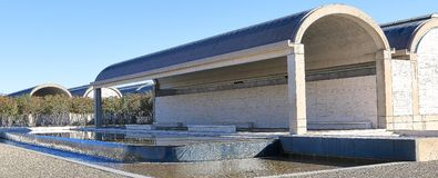 Kimball美术馆沃思堡,得克萨斯的后方 图库摄影