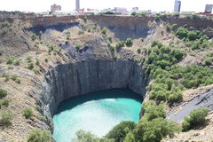 Kimberley Big Hole 1. The Kimberley big hole is reputed to be the biggest man made holes Royalty Free Stock Image